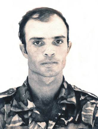 Guy Pool as a soldier.
